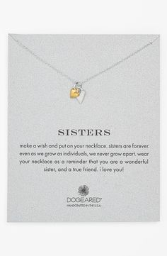'Reminder - Sisters' Pendant Necklace