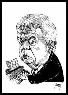 Caricatura de Julio Frade (tinta china)