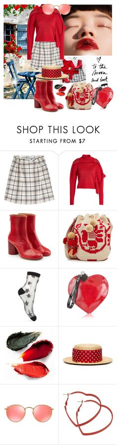 """""""The Morning Sun"""" by sue-mes ❤ liked on Polyvore featuring Retour, Carven, Y/Project, Maison Margiela, Miss Selfridge, Fontanelli, Rituel de Fille, Miu Miu and Ray-Ban"""