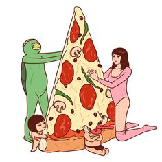 P is for Pizza © Okimi