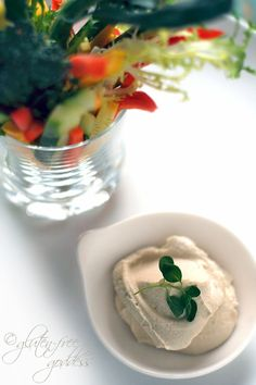 Raw cashew hummus is creamy, vegan and delicious