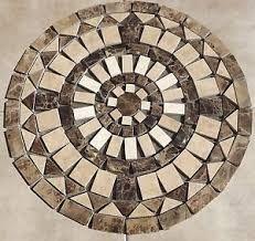 Mosaic Marble and Travertine Medallion 24 inch SJ Granite Floor . Mosaic Tile Art, Pebble Mosaic, Mosaic Diy, Mosaic Garden, Mosaic Glass, Mosaic Designs, Mosaic Patterns, Mosaic Outdoor Table, Granite Flooring