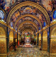 Built as the conventual church of the Knights, St. John's Co-Cathedral in #Malta is renowned for its inlaid marble floor and two Caravaggio masterpieces. #8thWonderoftheWorld Vote at www.virtualtourist.com/8thwonder