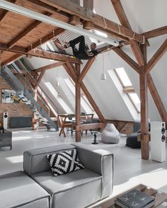 #hypelife: inspired by Don Johnson's San Francisco apartment in 1990s television police drama 'Nash Bridges,' the Poznań, Poland-based loft pictured above was formerly a business office and has been refurbished and partially partitioned into a residence for an older male working in the internet service industry. Take a tour of the spacious loft at hypebeast.com.