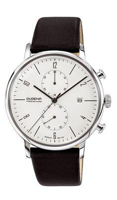Dugena Herren-Armbanduhr DESSAU Chrono Chronograph Quarz Leder 7000239…