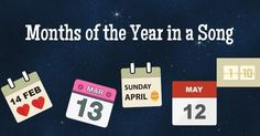 Months of the Year with a popular song