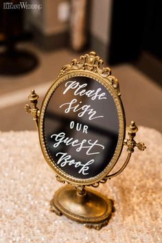 We can get a few mirrors and write in lipstick the table numbers for the gala. Mirror Wedding Centerpieces, Wedding Mirror, Wedding Entrance, Wedding Signage, 50th Wedding Anniversary Decorations, Gold Wedding Decorations, Wedding Ideas, Outdoor Wedding Signs, Vintage Wedding Signs