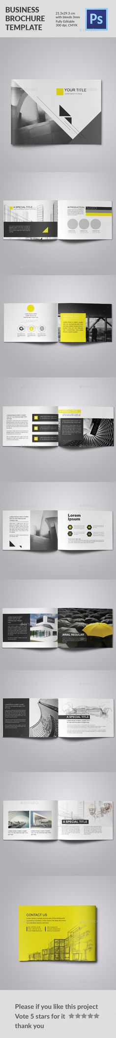 Buy Business Brochure Yellow Triangle by JehadSi on GraphicRiver. Business Brochure Yellow Triangle Features: File Size: X cm with bleeds Fully Editable 300 dpi, CMYK PS. Brochure Indesign, Template Brochure, Design Brochure, Brochure Layout, Editorial Design, Editorial Layout, Pamphlet Design, Booklet Design, Web Design
