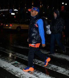 Spike Lee Rocks Knicks Foamposites
