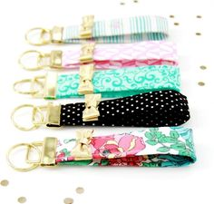 Treat yourself to the designer look for less with a Kate Spade inspired project that will keep you fashion forward and organized. This DIY Kate Spade Key Fob is a quick and easy sewing project that you can finish in an hour or less.