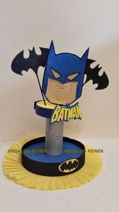 Centros de mesa golosineros en goma eva/ foamy super héroes BATMAN