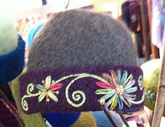 Love the stitching - could do this on felt hat as well