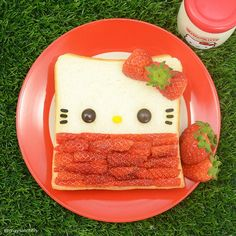 Hello Kitty Bread #Breakfast