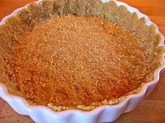Almond flour pie crust.  I half the recipe for one pie crust.  About 2 net carbs per slice.