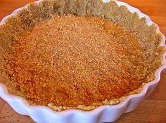 Almond flour pie crust.  I half the recipe for one pie crust.  About 2 net carbs per slice.