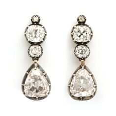 Victorian Diamond Transformable Pendant Earrings Request price or ask us about Pendant Earrings, Diy Earrings, Gold Earrings, Diamond Drop Earrings, Diamond Jewelry, Huge Wedding Rings, Antique Jewelry, Vintage Jewelry, Earrings