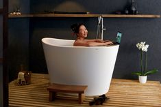 ᐈLuxury 【Aquatica True Ofuro Tranquility Heated Japanese Bathtub USA/International)】 for sale in the ⭐ Aquatica ⭐ Online Store ✅ The best prices - ✅ Made in EU ✅ Only the best materials ✅ Up to 25 year warranty Deep Bathtub, Deep Soaking Tub, Soaking Bathtubs, Contemporary Bathrooms, Modern Bathroom, Small Bathroom, Bathroom Ideas, Master Bathroom, Bathroom Remodeling