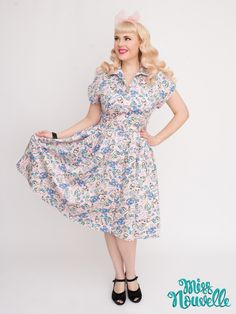 Miss Nouvelle - Emily Ann Dress, Sunsoaked - novelty print, vintage inspired, pinup, pink, lobsters, retro, 1950s, rockabilly