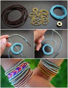 Eu Amo Artesanato: Pulseiras hippie passo a passo