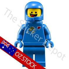Spaceman Benny Lego Minifigures Character Wall Safe MOVABLE Sticker