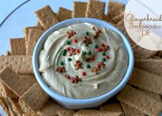 Gingerbread Cheesecake Dip: A quick & easy dip that's made in 5 minute! Bring this to your next holiday party and you'll be the most popular person there! Dessert Dips, No Bake Desserts, Just Desserts, Dessert Recipes, Appetizer Recipes, Christmas Party Food, Christmas Baking, Christmas Goodies, Christmas Treats