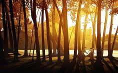 running through the forest by ~javieralcalde on deviantart