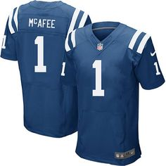 Cheap Men s Nike Indianapolis Colts  1 Pat McAfee Elite Royal Blue Team  Color NFL Jersey c68b0cbff