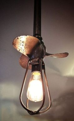 Industrial Boat propeller light by MakerofStuffShop on Etsy, $325.00