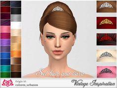Set retro alternative hair & tiara 02 by Colores Urbanos at TSR via Sims 4 Updates