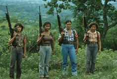 Salvadoran women of the Rafael Arce Zablah Brigade of the Farabundo Martí National Liberation Front.