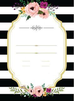 Boda 40th Birthday Invitations, Shower Invitations, Birthday Cards, Wedding Invitations, Flower Background Wallpaper, Flower Backgrounds, Rose Frame, Flower Frame, Free Wedding Invitation Templates
