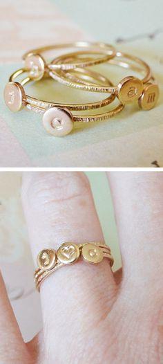 Stacking initial rings
