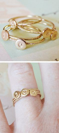 Stacking initial rings