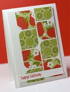 Great way to use up scraps of paper I just can't throw away! Cute card idea