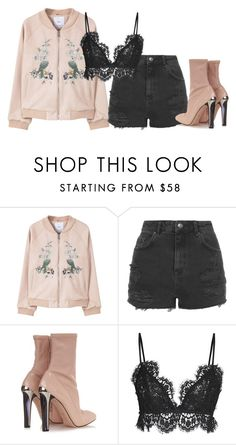 """""""Pink"""" by carol-98 ❤ liked on Polyvore featuring MANGO, Topshop, Alexander McQueen and Isabel Marant"""