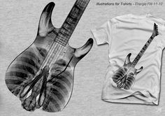 ENERGIE - Illustrations for t-shirts by Davide Martini, via Behance
