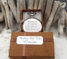 Father of the Groom Personalized Gift ENGRAVED Pocket Watch / Thank You For Raising The Man Of My Dreams  #P6