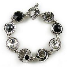 Avante Garde in Silver Black & White Patricia Locke Jewelry $210