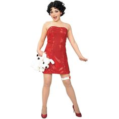 Betty Boop Teen Dress And Wig