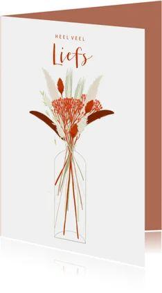 Alle zomaar kaarten van Kaartje2go Orange, Hart, Home Decor, Products, Beige, Paper, Vase Of Flowers, Wish, Decoration Home