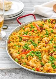 Image result for paella Tapas Recipes, Seafood Recipes, Dinner Recipes, Cooking Recipes, Healthy Recipes, Protein Recipes, Party Recipes, Comida Latina, Weeknight Meals