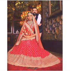 Fullonwedding - Bridal Wear - 10 Best Sabyasachi Bridal Outfits - Red Buti Lehenga