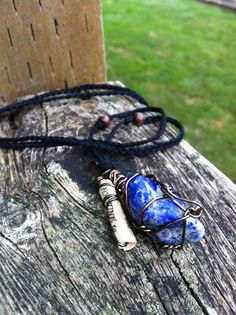 Lapis Lazuli Fortune Charm Necklace by ArtCraftandNature on Etsy, $10.00