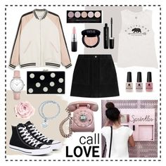 """❤call love...❤"" by clarinette38 on Polyvore featuring Monki, Converse, rag & bone, Billabong, Victoria's Secret, Marc Jacobs, L.A. Colors, MAC Cosmetics, CLUSE and Tiffany & Co."