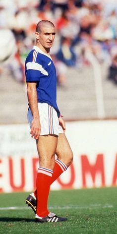 Eric Cantona in the French U21s, 1986.