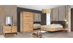 City Yatak Odası Takımı Donia, Divider, Bed, Modern, Room, Furniture, Home Decor, Bedroom, Trendy Tree