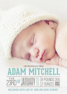Details About Personalised Baby Boy Thank You Card Packs
