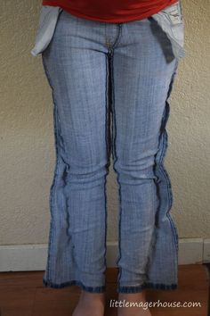 Latest Totally Free Make Skinny Jeans Yourself from Regular Jeans - Little Mager House Popular I enjoy Jeans ! And a lot more I love to sew my own personal Jeans. Next Jeans Sew Along I'm lik Altering Jeans, Altering Clothes, Revamp Clothes, Sewing Clothes, Sewing Jeans, Fashion Sewing, Diy Fashion, Punk Fashion, Lolita Fashion