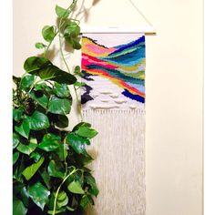 Coloured landscape #handdyedwool #weaving by natalie_miller_design