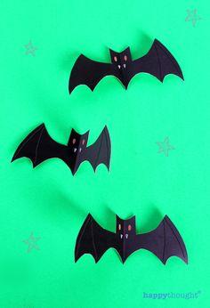bats on green for halloween craft 2013